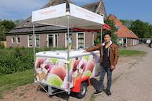 David _ ijscoman op Texel